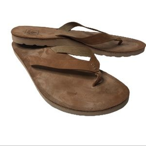 REEF Voyage Tan Leather Women's Sandals